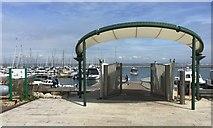 SY6874 : Entrance to Portland Marina on foot by Robin Stott