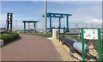 SY6874 : Two boat hoists and other kit, Portland Marina by Robin Stott