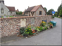 SP7201 : Flower bed by coronation and jubilee plaques, Sydenham by David Hawgood