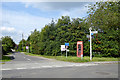 SU6884 : Phone box and signs, Stoke Row by Robin Webster