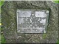 SP3278 : Spencer Park plaque 1 by Martin Richard Phelan