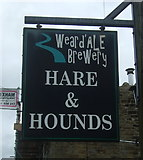 NY9038 : Sign for the Hare & Hounds, Westgate by JThomas