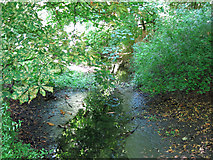 TQ0481 : Drain by the River Colne west of Little Britain Lake by Mike Quinn