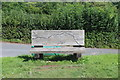 SO1419 : Map on bench, Monmouthshire & Brecon Canal by M J Roscoe
