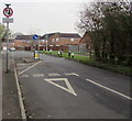 SO8013 : Give way to oncoming vehicles, School Lane, Quedgeley by Jaggery
