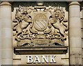 SD6902 : Union Bank of Manchester coat of arms by Gerald England