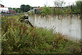 NS3977 : Outflow from the former Dalquhurn silk dye works behind Mill Lade by Mick Garratt