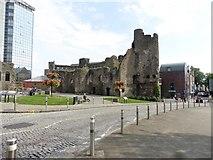 SS6593 : Swansea Castle by Roger Cornfoot