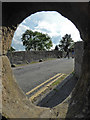 SK2572 : Old bridge at Baslow - the view from within by Chris Allen