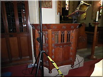 SD6279 : Holy Trinity, Casterton: pulpit by Basher Eyre
