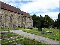 SD4964 : St Wilfrid, Halton: churchyard (11) by Basher Eyre