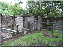 NT2674 : Corner plot in Calton Old Cemetery by John M
