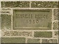 NZ1787 : Date stone, Benridge Bridge by Graham Robson