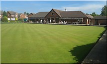 SO8716 : Pineholt Bowls Club, Hucclecote by andrew auger