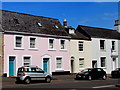 SY4692 : Pink and turquoise, East Street, Bridport by Jaggery