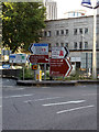ST5973 : Roadsigns on the A4044 Bond Street by Geographer