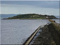 NT1977 : Cramond  Causeway at High Tide by John M