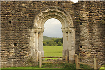 SE7365 : Kirkham Priory, Refectory doorway by Richard Croft