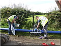 H2880 : Pipe-laying along Ednagee Road by Kenneth  Allen