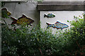 TQ3083 : Mosaic fish, Regent's Canal, near Caledonian Road by Julian Osley