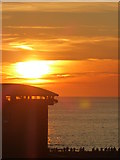 SW3526 : Late August sunset behind the lifeboat station by Rod Allday
