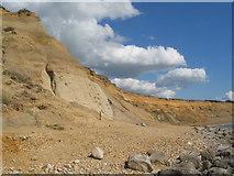 SZ2492 : Eroding cliffs at Barton on Sea by E Gammie