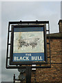 NY5541 : Sign for the former Black Bull pub, Kirkoswald by Karl and Ali