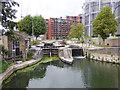 TQ2983 : St Pancras lock by Stephen Craven