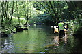 SO1903 : Cleaning the River Ebbw by M J Roscoe