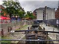 SJ8497 : Rochdale Canal Lock 87, Canal Street by David Dixon