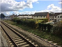 SU1686 : View from a Reading-Swindon train - houses on Stratton Road, Swindon by Nigel Thompson