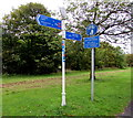 SO1610 : Cycle route signpost, Beaufort Road, Ebbw Vale by Jaggery