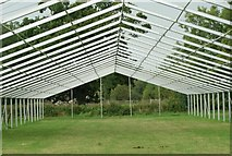 SK8707 : View along the underside of a marquee with no cover in Rutland Water by Robert Lamb