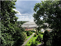 TQ1876 : The Temperate House from the treetop walkway, Royal Botanic Gardens, Kew by Margaret Pennington