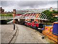 SJ8397 : Castlefield Basin, Merchants Bridge by David Dixon
