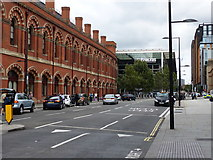 TQ3083 : Road between St Pancras and Kings Cross stations by Rob Purvis