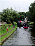 SO8689 : Canal at Hinksford in Staffordshire by Roger  Kidd