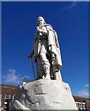 SU3987 : Statue of King Alfred, Market Place, Wantage by Brian Robert Marshall