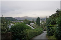SH5638 : The church drive on a wet and misty day by Bill Boaden