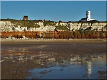 TF6742 : The striped cliff at Hunstanton by Neil Theasby