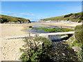 SW7760 : Footbridge at Porth Joke by Tony Atkin