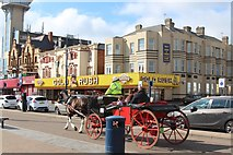 TG5307 : Horse & cart, Marine Parade by Oast House Archive
