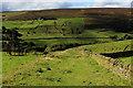SE0329 : Footpath descending towards Upper Heys Wood by Chris Heaton
