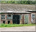 TG1201 : Old shed at Banham's Farm by Evelyn Simak