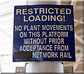 SE5951 : Restricted Loading notice - York station - September 2017 by The Carlisle Kid