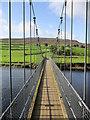 SE0398 : Reeth  Suspension  Bridge  over  River  Swale by Martin Dawes