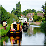 SO8690 : About to moor in Swindon, Staffordshire by Roger  Kidd