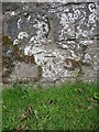 SJ4905 : OS benchmark - Condover, roadside wall by Richard Law
