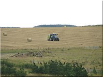NZ2294 : Baling straw on former opencast land at Stobswood by Graham Robson