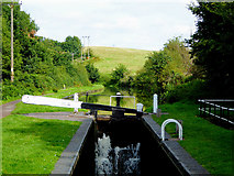 SO8690 : Marsh Lock near Swindon in Staffordshire by Roger  Kidd